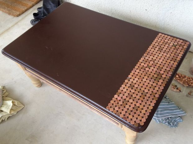 How To Make A Penny Top Coffee Table