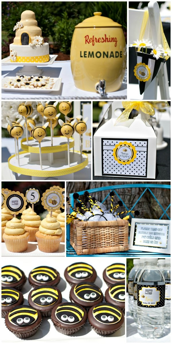 """TOO cute - a """"BEE-DAY"""" party! Bumble bee birthday... <3"""