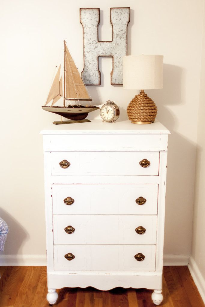 Nautical Nursery Decor Ideas - love the rope lamp and model ship!