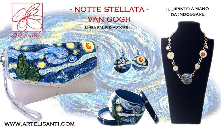 Coordinato dipinto a mano notte stellata di van gogh for Dipinto di van gogh notte stellata