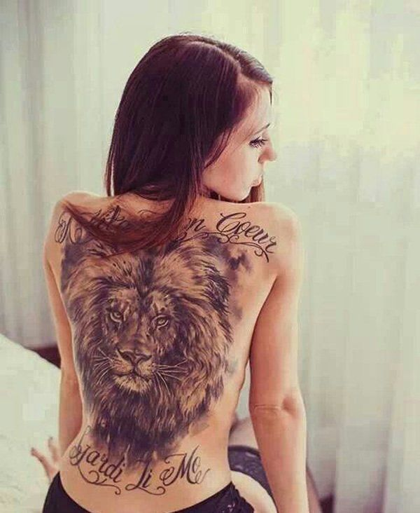 Lion-tattoo - 50+ Pictures of Tattooed Women