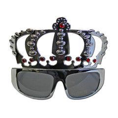 Silver Crowned Costume Glasses | Simply Party Supplies