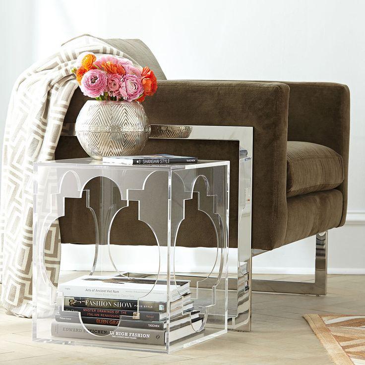 Quatrefoil Acrylic Side Table Part 82