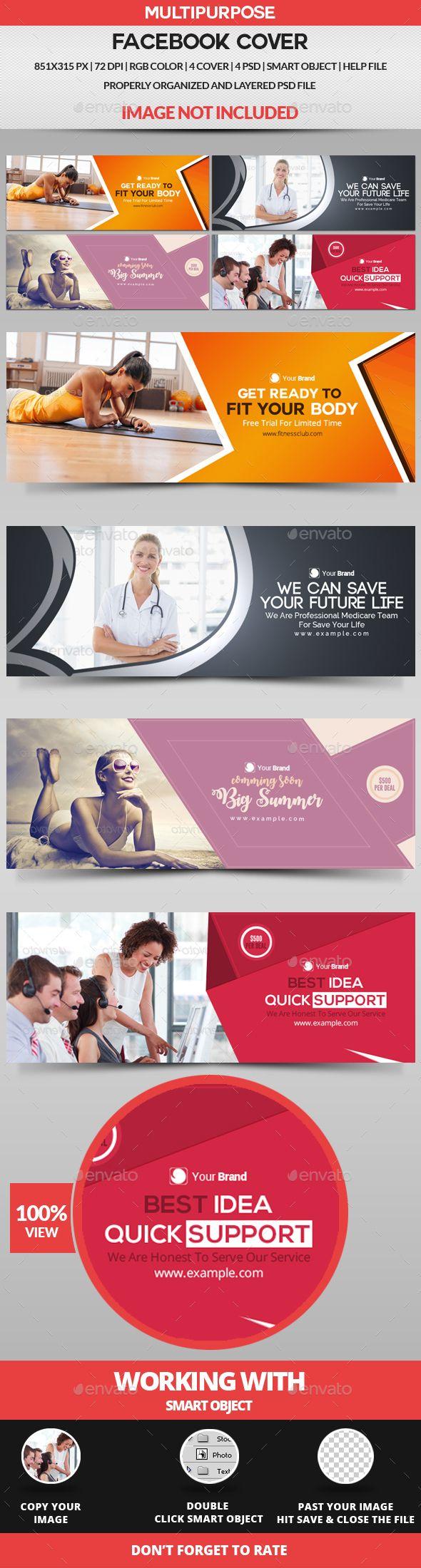 #Facebook Cover - 4 Design - Facebook Timeline Covers #Social #Media