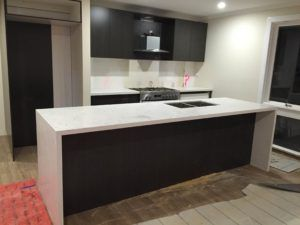 Carrara Prefabricated Benchtop with waterfall ends