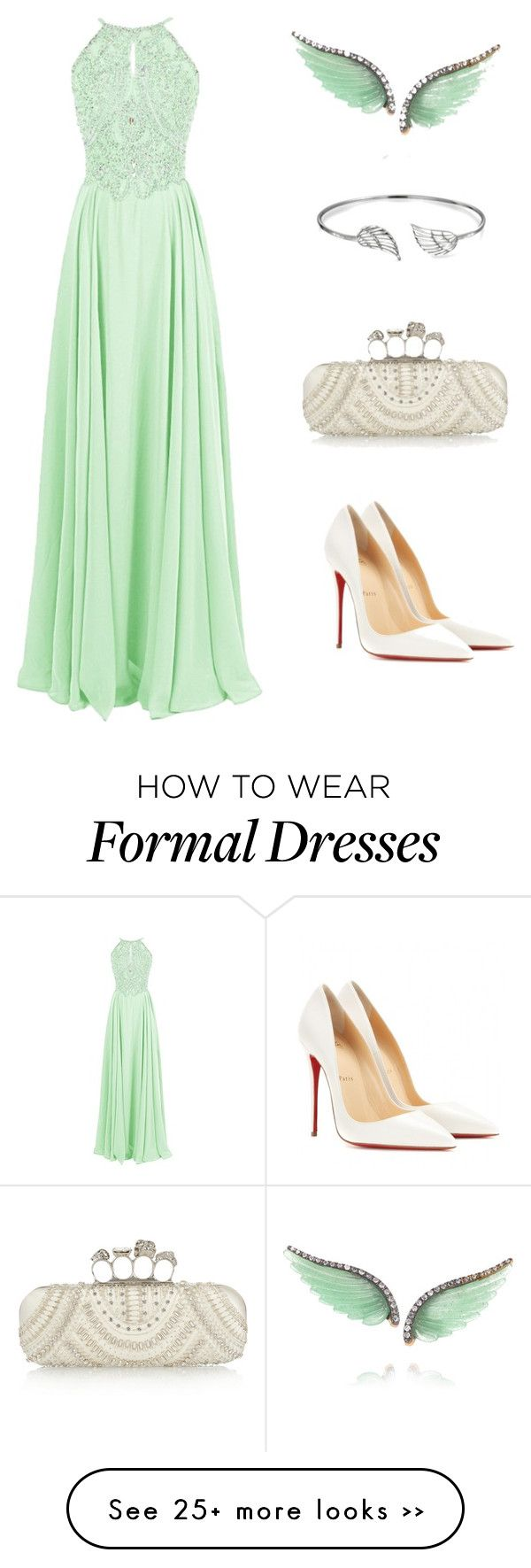 """""""Untitled #426"""" by ingpiya on Polyvore featuring Noor Fares, Alexander McQueen, Bling Jewelry and Christian Louboutin"""