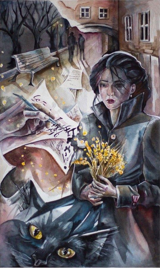 The Yellow Flowers - Artist: Marina Gargay, Kiev, Ukraine - 2017