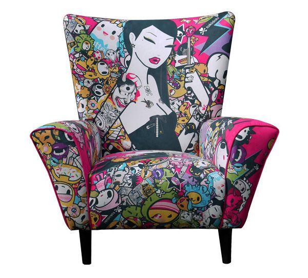 Limited ed. TokiDoki Singapore wingchair.Decor, Tokidoki Singapore, Wings Chairs, Limited Editing, Tokidoki Chairs, Art, Armchairs, Furniture, Editing Chairs