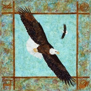 Dancers Bald Eagle Fusible Applique Bigfork Bay Quilt