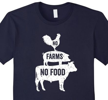 Click the shirt to purchase. No FARMS No FOOD t-shirt best farming shirt…