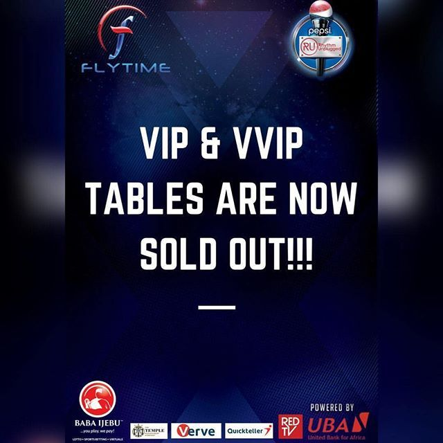 VVIP tables and VIP tickets are now SOLD OUT! Tickets for the Wizkid (with special guests) concert are still available at www.flytimetv.com…