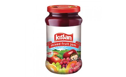Rs 10 off on 500 gm Kissan mix fruit jam. Valid across all SRS Value Bazaar outlets.