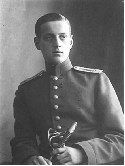 Grand Duke Dimitri Pavlovich, cousin of the Tsar & co-conspirator in the murder of Rasputin. As a direct result of his involvement in the murder, Dmitri Pavlovich was sent to the Persian front, which ultimately saved his life; most of his relatives were executed by the Bolsheviks, including his father & his morganatic half-brother Vladimir Paley, but he himself escaped with British help.He died in 1941 in Switzerland & is buried in Germany  next to his sister Maria.