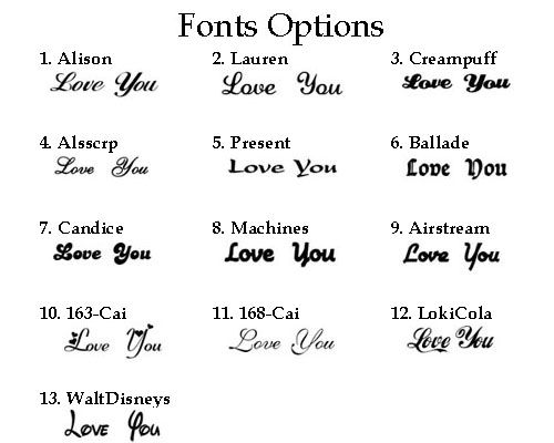 how to write i love you in different styles