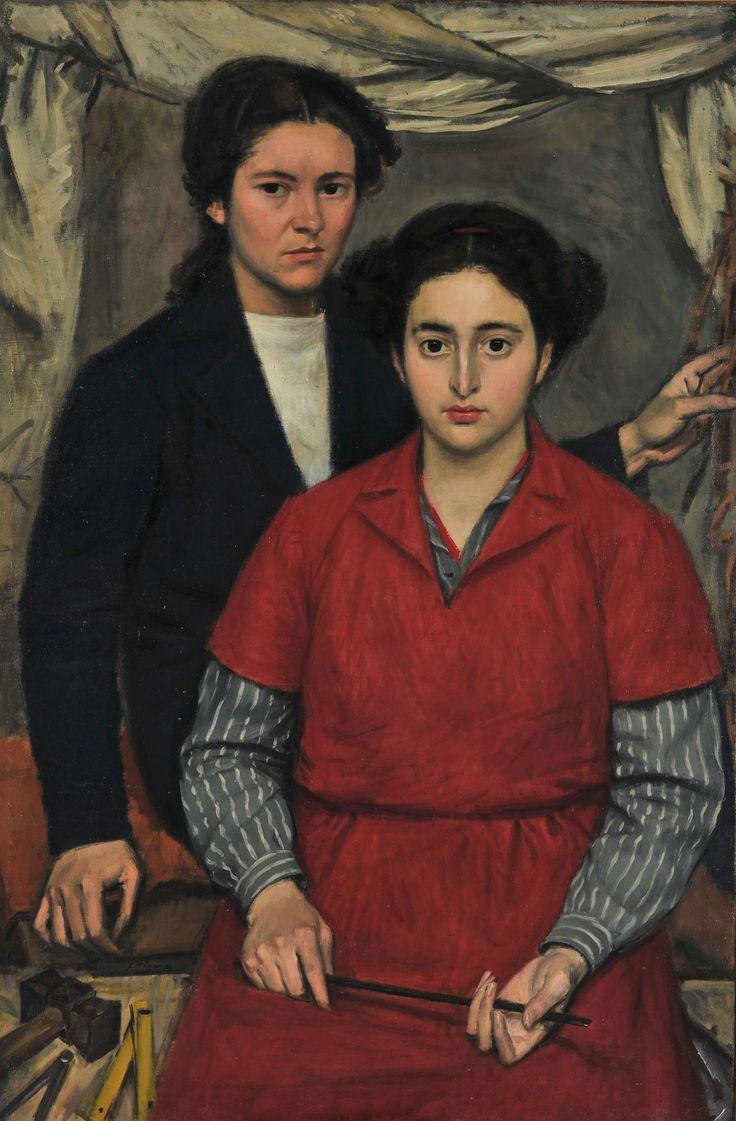 Γιάννης Μόραλης (Άρτα 1916 - Αθήνα 2009) Δύο φίλες, 1946