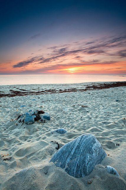 Sunset over Barvas beach by Spumador... Barvas, Isle of Lewis, Outer Hebrides, Scotland --- Barvas (Scottish Gaelic: Barabhas)