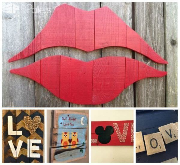 19 Brilliant Valentine's Day Decorations Made out of Pallets Inspiration for Valentine's pallet projects.