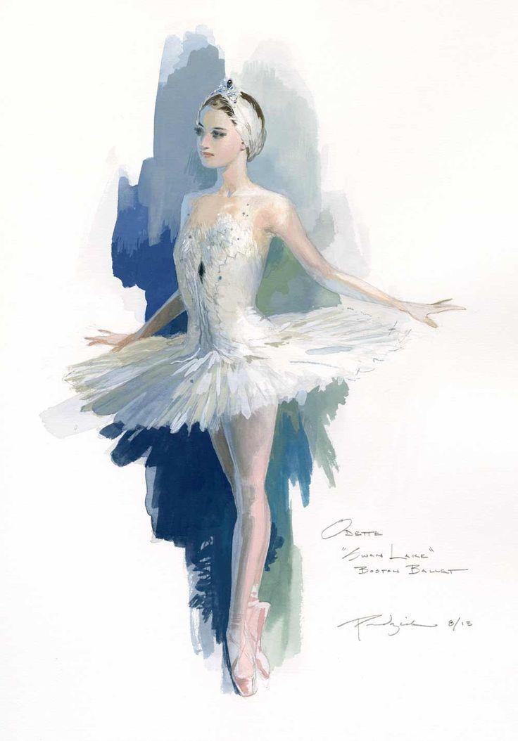 Odette the White Swan, Costume design by Robert Perdziola ♥ Wonderful! www.thewonderfulworldofdance.com #ballet #dance