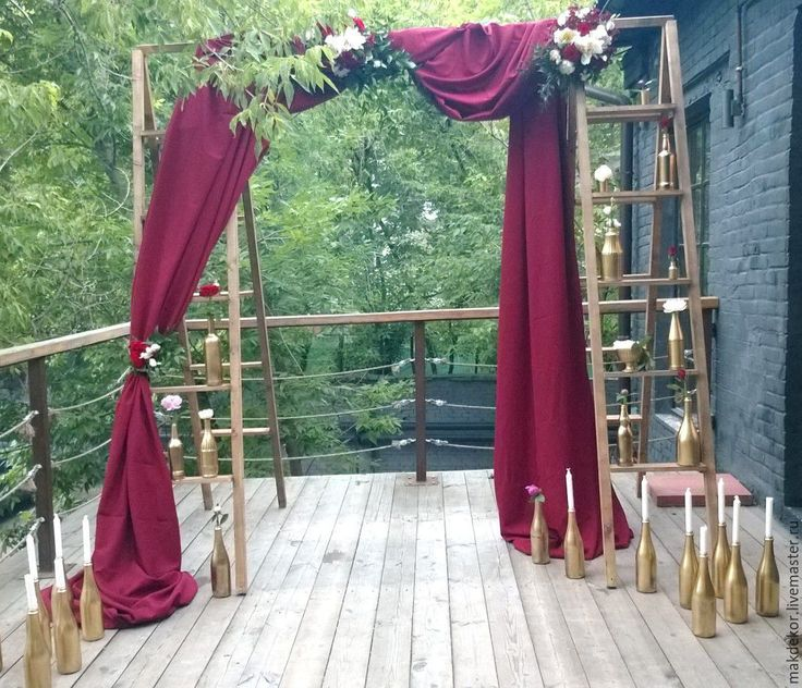 Купить Деревянная арка лестница, лестница стремянка. - арка лестница, лестница стремянка, арка для регистрации