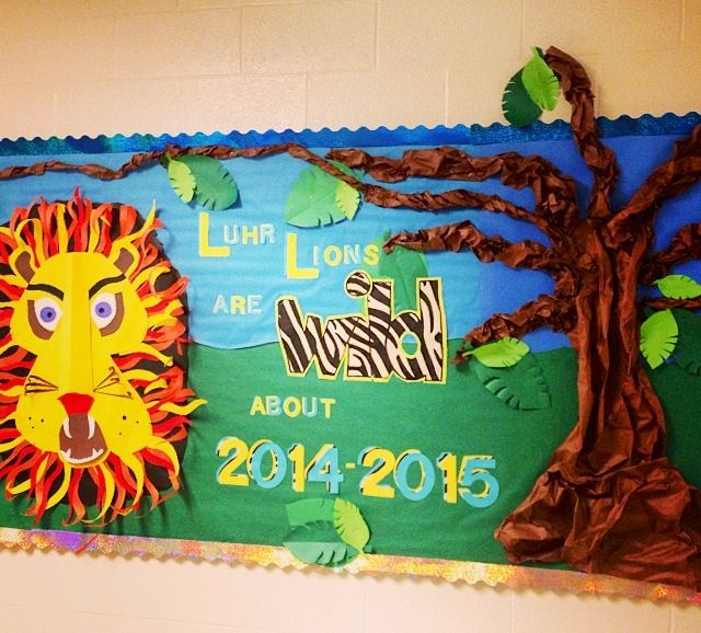 Teacher Classroom Wall Decor ~ Lion welcome back to school bulletin board too cool