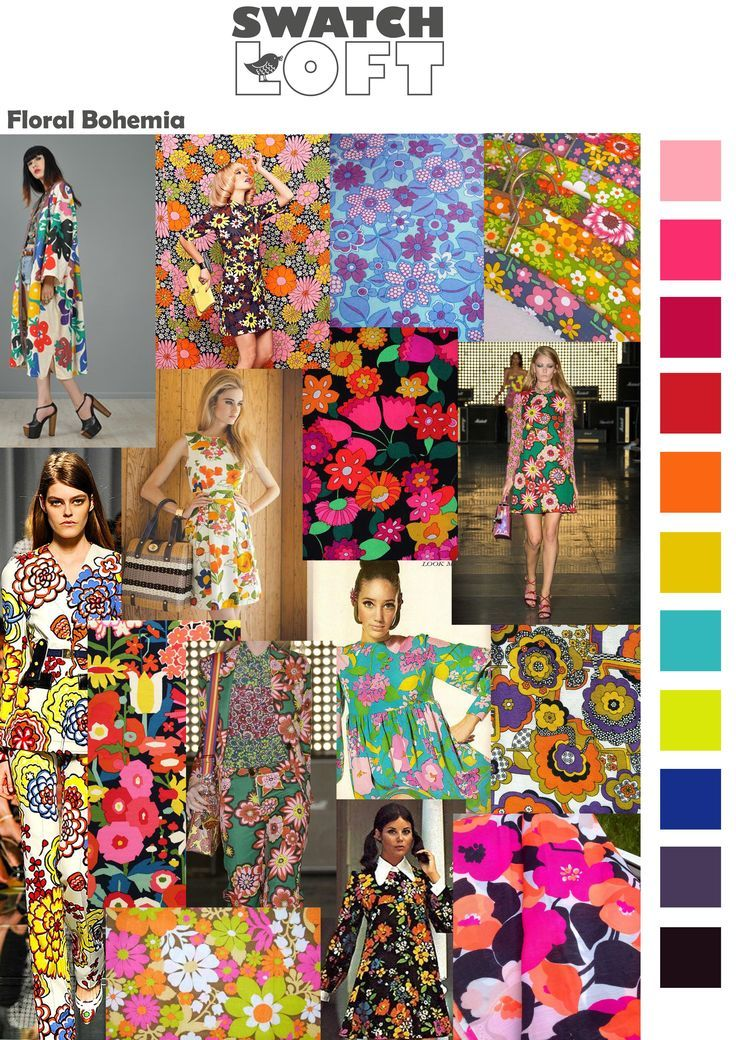 Floral Bohemia Trend is hot of the catwalks for the spring/summer this year with designers from Chanel to Vuitton all channeling their 70's vibe into their