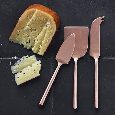 Copper Cheese Knives, Set of 3 #williamssonoma