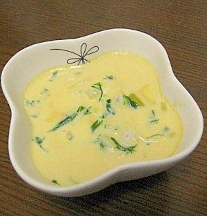 「【離乳食】赤ちゃんの茶碗蒸し(全卵入り) 7ヶ月~」栄養満点の茶碗蒸し(離乳食)。具はなんでもOK。おかゆをいれるとボリュームがでます。醤油あんかけなどをかけると大人もOKです。【楽天レシピ】