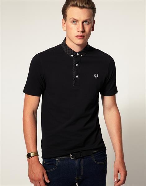 Черная мужская рубашка поло