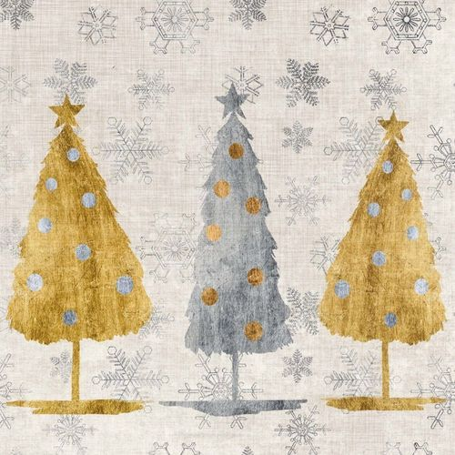 DECOUPAGE /& CRAFTING 4 x  PAPER NAPKINS GREEN WITH CHRISTMAS TREES for TABLE