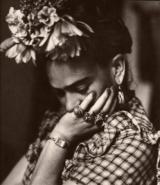 Frida in Repose    Photograph by Sylvia Salmi.