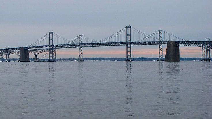 Puente de la Bahía de Chesapeake (Maryland, Estados Unidos): Cuando hay mal tiempo los conductores sufren la poca visibilidad y la violencia de las tormentas.