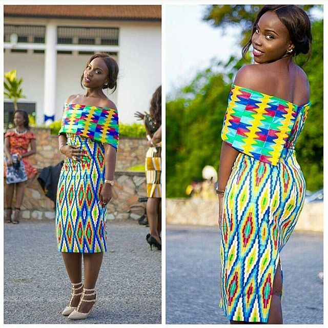 Ladies Check Out this Kente Style ! Hit or Miss? @iheartfabricsgh ✨ #ankarastyles #kente