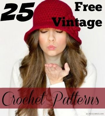 In this collection of 25 Free Vintage Crochet Patterns, you'll find nothing but old-school family favorites including vintage-inspired free crochet afghan patterns, retro-chic wearables, and timeless DIY home decor crochet patterns.