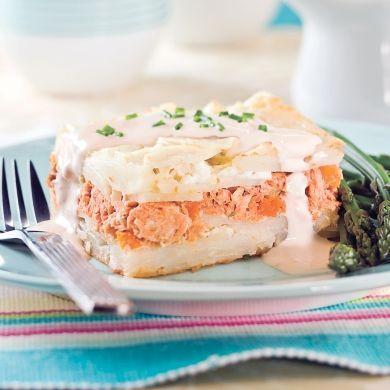 Pâté au saumon étagé à la mijoteuse - Recettes - Cuisine et nutrition - Pratico Pratique