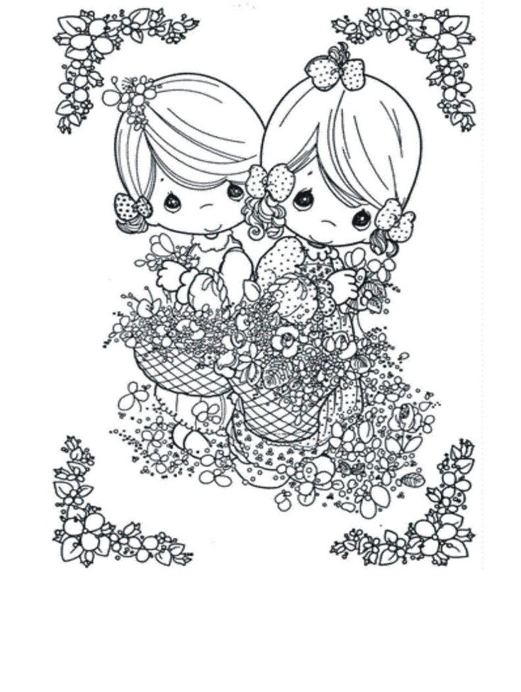 Free Precious Moments Coloring Pages To Print