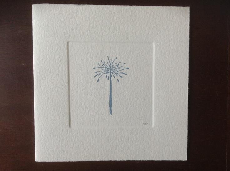 MISU card design   blue allium