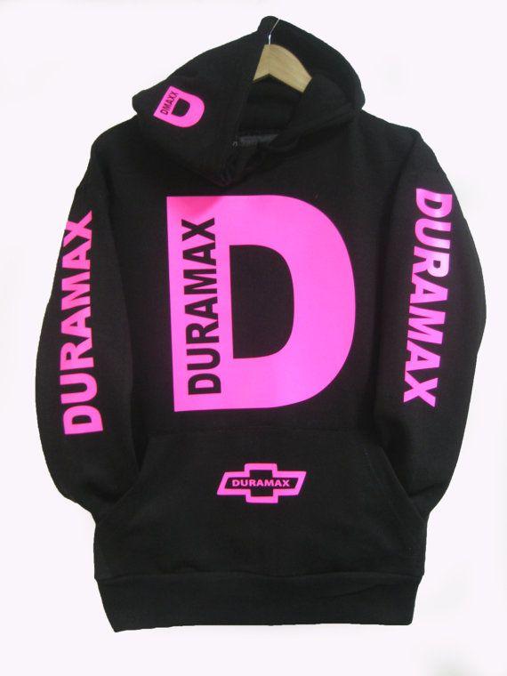 Duramax Hoodie HOT PINK by ApurimacShop on Etsy, $32.99
