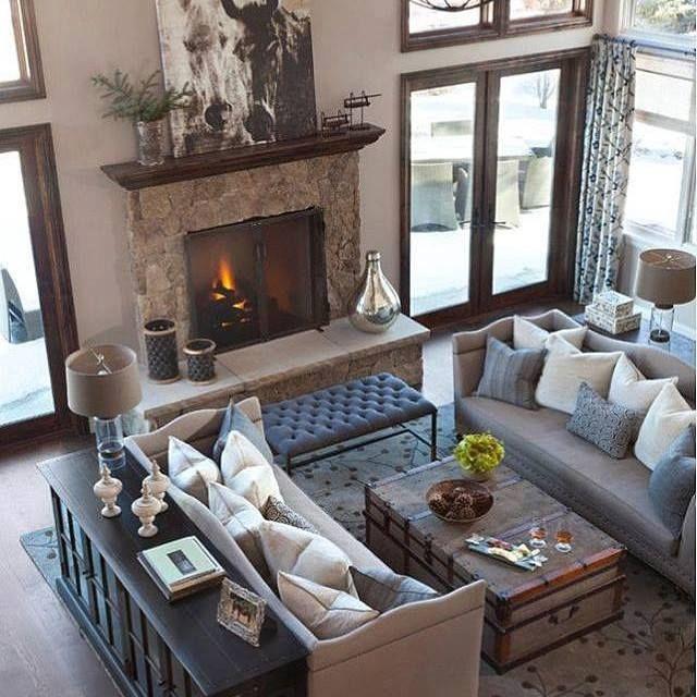 2 couches trunk and bench alpine renovation transitional living room other metro ashley campbell interior design - Dark Wood Living Room 2015