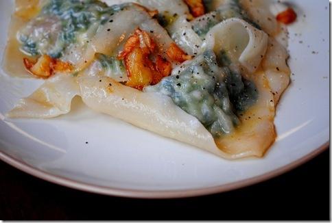 Prosciutto-spinach ravioli on Iowa Girl Eats