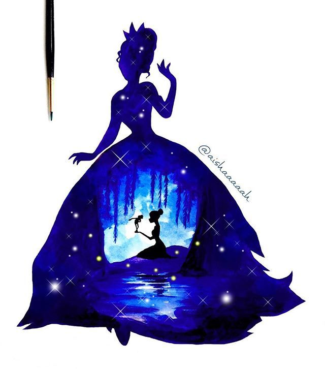 And here is the double exposure of #PrincessTiana (print available on my society6) #disneyprincess #disney, I think I have a few more left, then I'll start painting other stuff :p