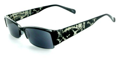 """Splash"" Full Sun Readers Sunglasses (NOT A BIFOCAL) for youthful and active men and women who like to look great while reading in comfort in the sun. (Black +2.00) by Ritzy Readers. $25.00. 100% UVA and UVB protection in a prescription quality lens.. Soft Pouch Included to prevent scratches and clean the lens.. Spring temples auto-adjust to width of your face.. Ready-To-Wear Full Reading Sunglasses.. Ultra lightweight for comfy fit.. ""Splash"" full reading sunglasses look ..."