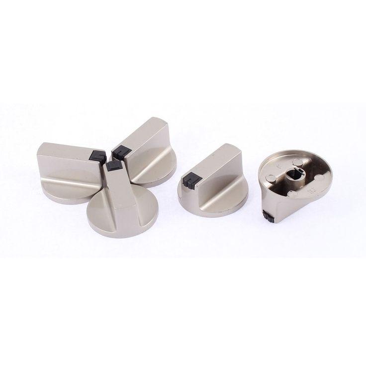 Unique Bargains Cooktop Gas Fuel Stove Oven Burner Range Knob Switch Handle Grip 5 Pcs