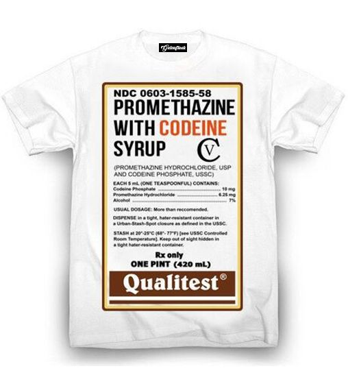 Prometh with Codeine Cough Syrup T-Shirt – Getonfleek
