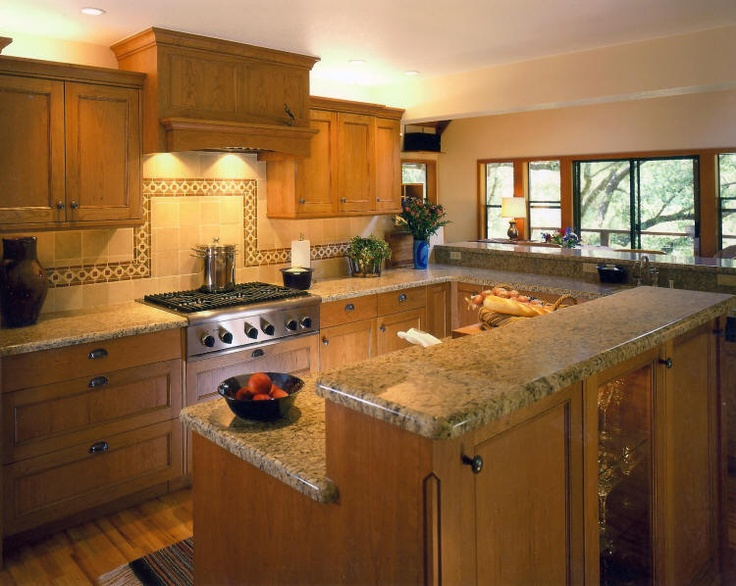 New Venetian Gold Granite Countertops Looks Good With Oak Cabinets Too Kitchen Upgrade