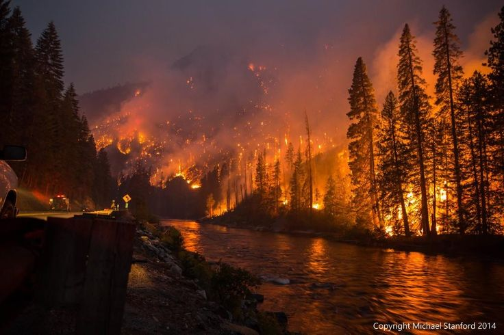 Forest fire in Leavenworth, WA. By Michael Stanford