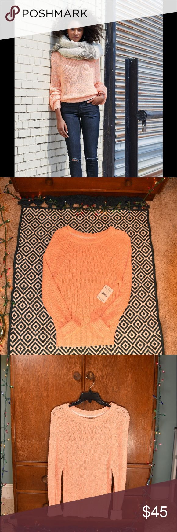 NWT FP Electric City Pullover in Tangerine New with tags! Just in time for Fall, this Free People long sleeve pullover is so comfortable and cute. Reasonable offers accepted 💕 Free People Tops