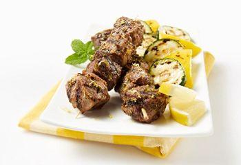 Brochettes d'agneau citron et ail