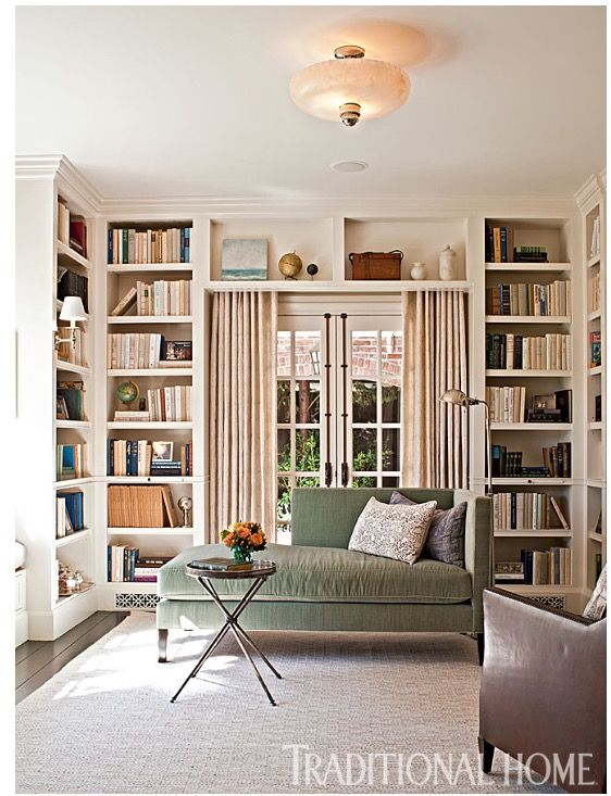 This Light Filled Library Originally Functioned As A Dining Room Take Full Tour Of Actor And Producer Redesigned Hollywood Home Link In Bio