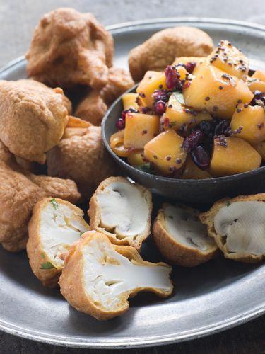Tip van deVegetariër-redactie: Lekker met een salade van blokjes mango, geroosterde mosterdzaadjes en granaatappelpitjes.  VOOR: 4-6 personen     TIJD: 30 minuten  Dit recept heb ik te