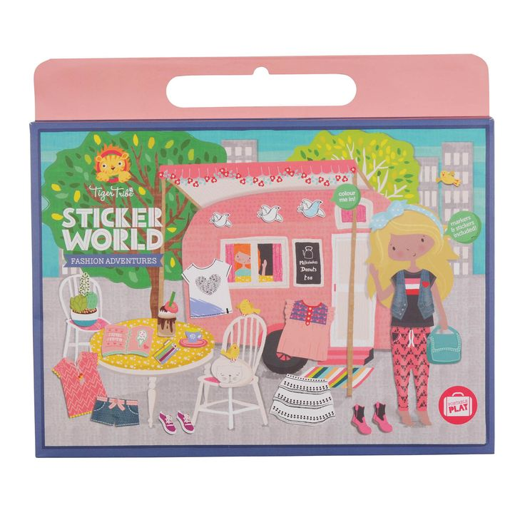 Hours of Sticker Fun with the Fashion Adventures Play Set by Tiger Tribe!  Full of gorgeous outfits to select for all sorts of fun adventures, this activity set is designed to keep little ones happy while mum and dad take some time out at the cafe, or when travelling or even in the doctor's waiting room!  Little Boo-Teek - Tiger Tribe Sticker World - Fashion Adventures | Tiger Tribe Kids Toys Online | Shop Children's Toys Online